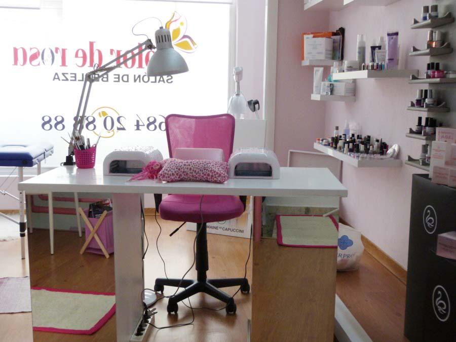 Color de rosa u as de gel padr n sal n de belleza - Colores para un salon pequeno ...